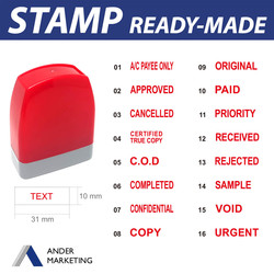 Ready Made Pre-inked Stamp