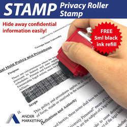 Identity Protection Privacy Roller Stamp