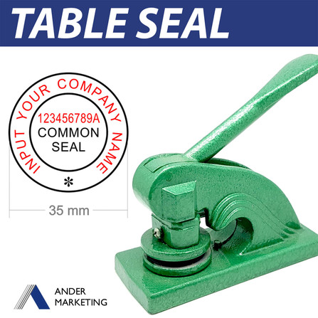 Table seal (with UEN)