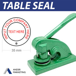 Table Seal with Text