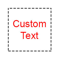Stamp custom text